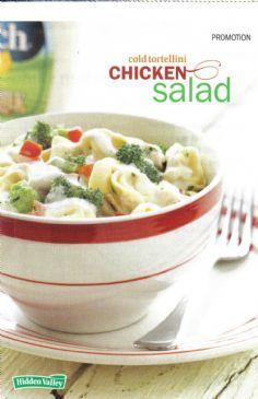 Cold Tortellini Chicken Salad (Serves 6)