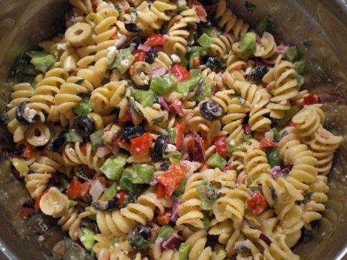 Italian pasta salad with a Greek flair