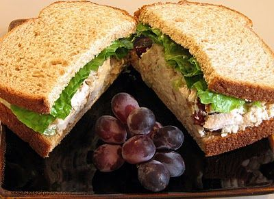 Carol's Chicken Mushroom Grape Salad with Walnuts