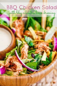 BBQ Chicken Salad with BBQ Cilantro Lime Dressing