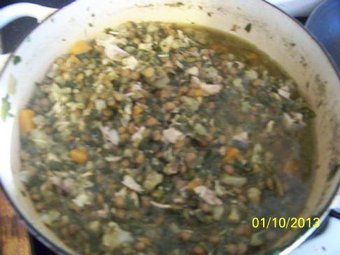 leamanach lentil chicken stew