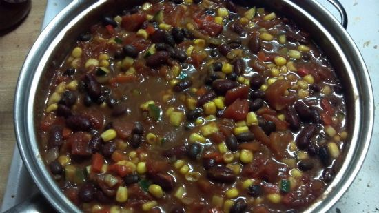 Vegetarian Chili- with veggies