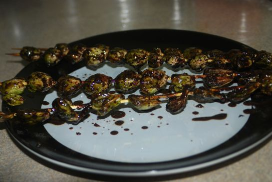 Farmer's Market: Grilled Brussel Sprout Skewers