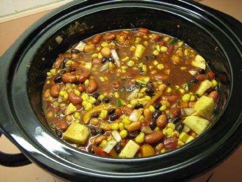 Spicy Vegetarian Chili Recipe | SparkRecipes