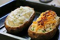 Twice Baked Potatoes for Two-Blue cheese and chives version