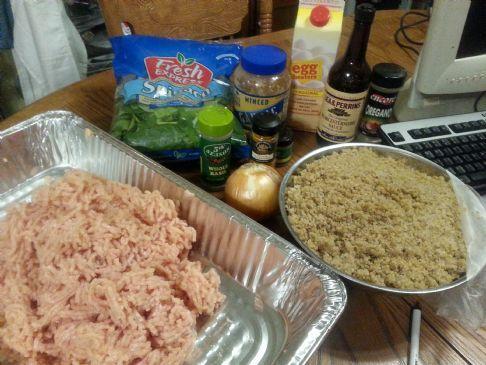 Baked Chicken Quinoa Spinach Meatballs