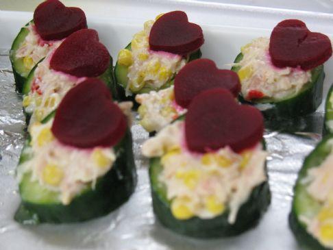 Valentine Cucumber Treat