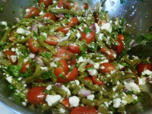 Cherry tomato and Nopales salad