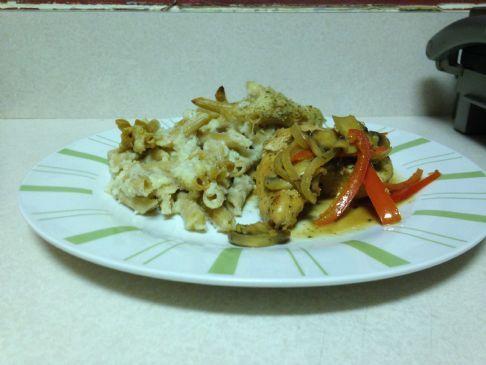 Chicken in mushroom wine sauce