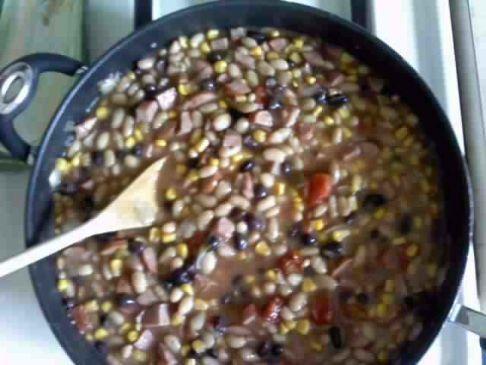 Turkey sausage white chili