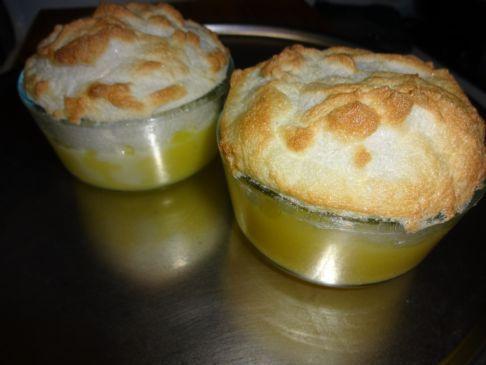 Crustless Sugar-free Lemon Meringue Pie