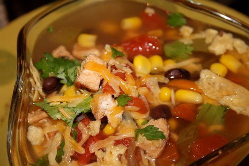 Wild Turkey Fajita Soup