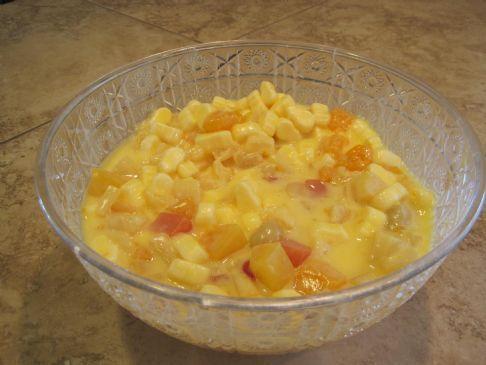 My Aunt's Pudding Fruit Salad