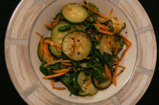 Zucchini with Carrots and Spinach
