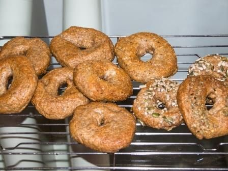 Homemade Honey Wheat Mini-Bagels