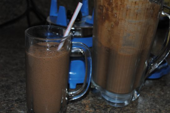 Bean / green chocolate smoothie
