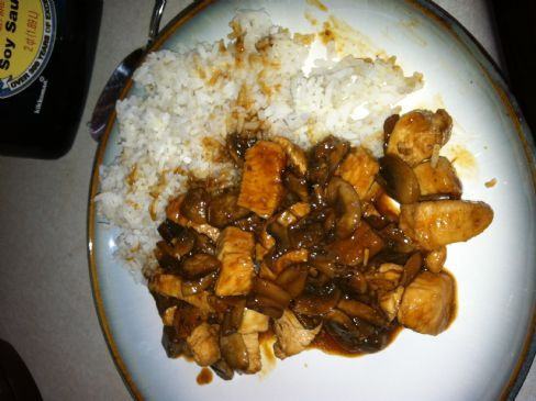 Sweet and Spicy Asian Chicken and Mushroom