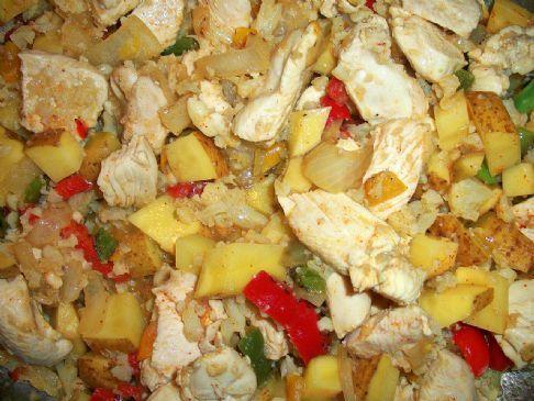 Chicken, Vegetables, and Riced Cauliflower