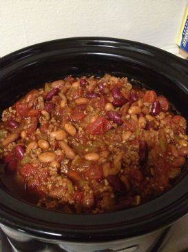 Spicy (but not too spicy) Slow Cooker Chili