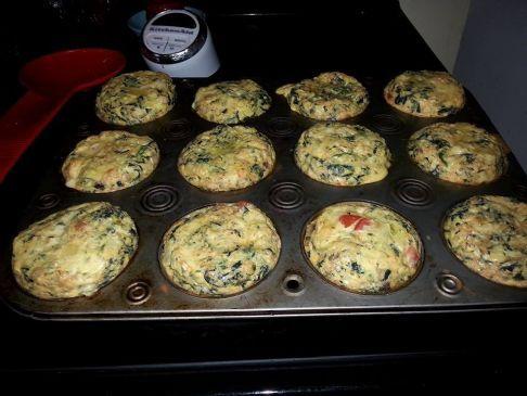 Spinach Mushroom Tomato Egg Muffins
