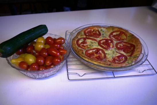 Zucchini, tomato fritatta
