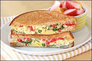Healthy Egg N Veggie Breakfast Sandwich Recipe Sparkrecipes