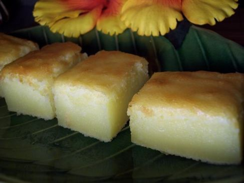 Lemon Pudding Mochi Cake