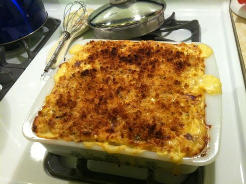 Made-over Baked Mac & Cheese with Spinach
