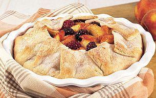 Rustic Peach-Blackberry Pie