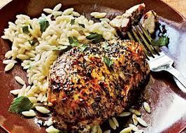 Herb-Crusted Chicken and Cilantro Orzo
