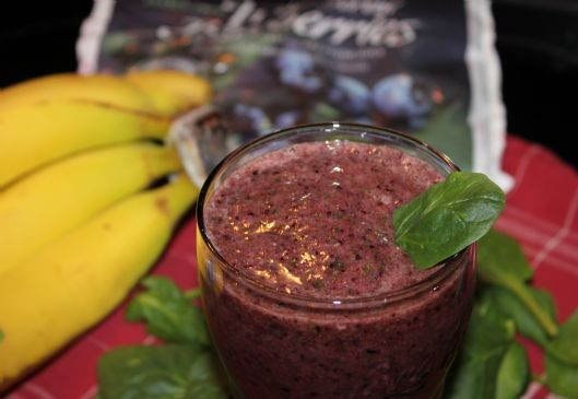 Blueberry-Banana Green (Purple) Smoothie