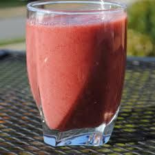 Raspberry, Strawberry, and Banana Smoothie