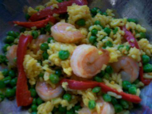 LPW's Festive Shrimp & Yellow Rice