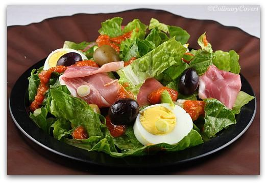 Tossed Salad with Ham and Tomato Vinaigrette