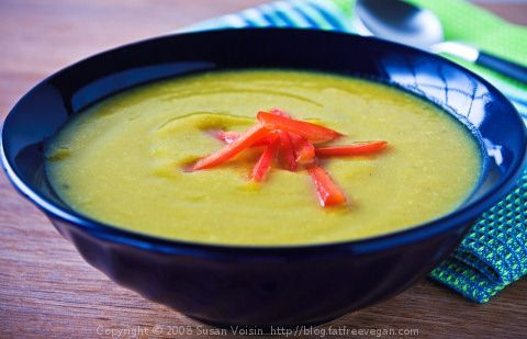 Spicy Summer Squash Soup (vegan)
