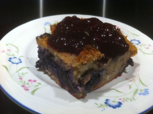 Bread pudding (Rye and Blueberries)