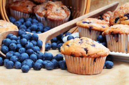 Double Blueberry Muffins