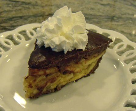 Banana Chocolate Pudding Pie