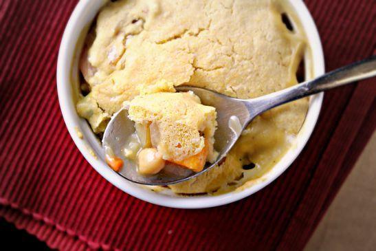 Chickpea Potpie with Cornbread Crust