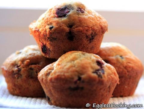 Vegan Blueberry Muffins using Apple Cider Vinegar