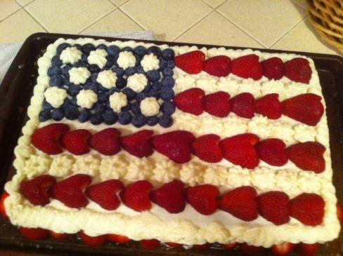 Martha Stewart Festive Flag White Sheet Cake