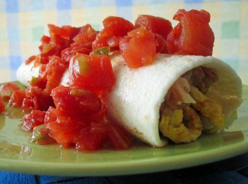 Breakfast Egg, Cheese & Bean Burrito