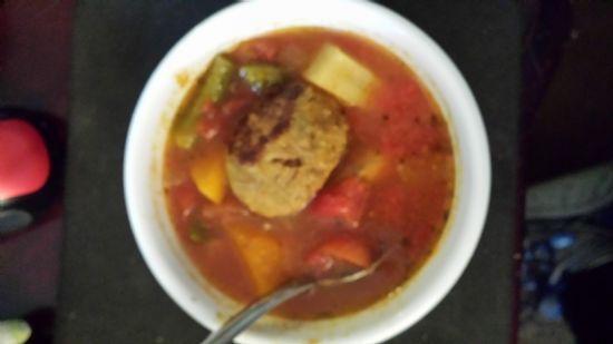 Jalapeno Chedddar Meatball Veggie Soup