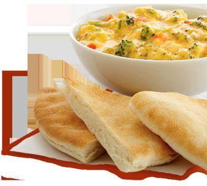 Broccoli Cheese Dip w/ Pita Bread