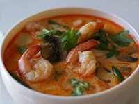 Tom Ka Kung (Spicy Thai Coconut Soup With Shrimp)