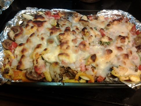 Cheesey 7 Vegetable casserole