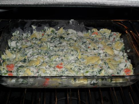 Spinach, Artichoke and Crab dip