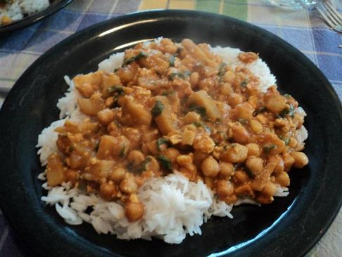 Butter Chickpea Curry Recipe   SparkRecipes