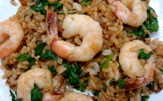 Shrimp Fried Brown Rice (Single Serving)