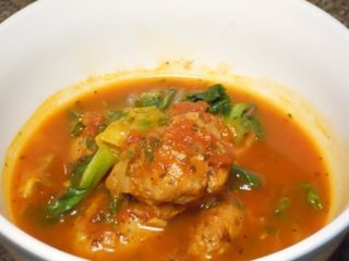 HCG Phase 2 - Escarole Soup with Veal Meatballs